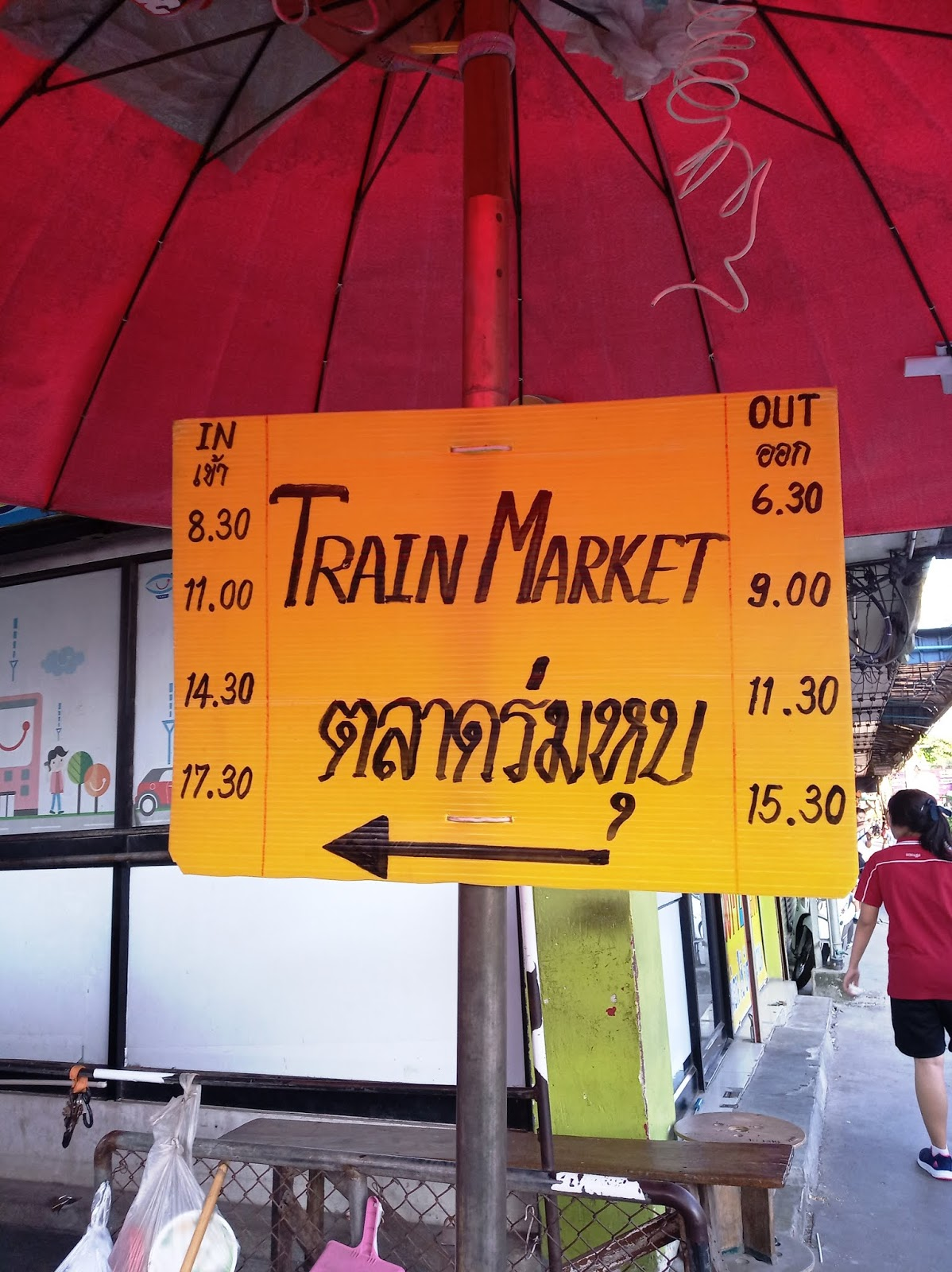 Maeklong train market schedule | Ummi Goes Where?