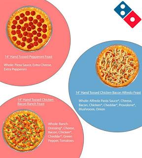 Dominos Pizza Menu Prices May 18 - June 15, 2017