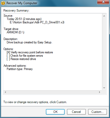 Cara Backup Dan Restore Data Menggunakan Aplikasi Norton Ghost