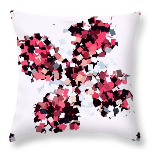 Crystal Butterfly Pink Throw Pillow