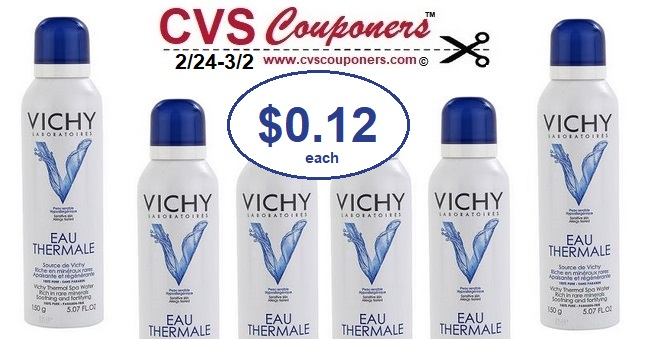 photo about Vichy Coupon Printable known as Vichy Thermal Spa Drinking water Merely $0.12 at CVS - 2/24-3/2 CVS