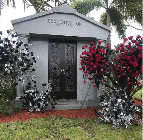 Slain rapper XXXTentacion buried in private funeral, as his mom reveals his Mausoleum at burial site