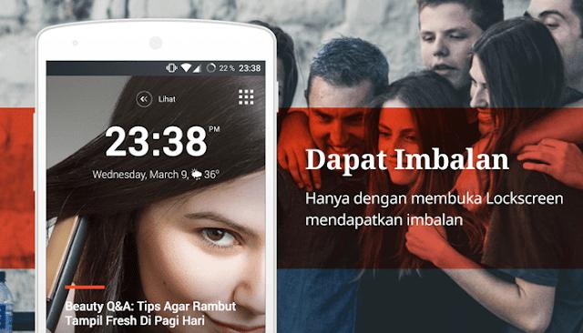 Mendapatkan Gems Coc dari Aplikasi Lookscreen Whaff Locker Android
