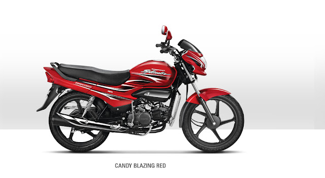 Hero Super Splendor Candy Blazing Red color