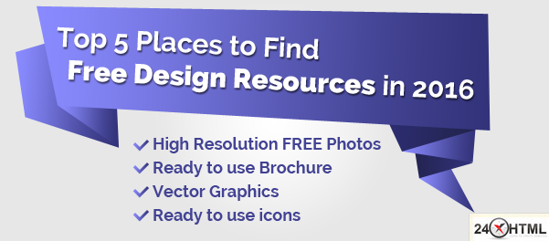 Top 5 Places to Find Free Design Resources in 2016