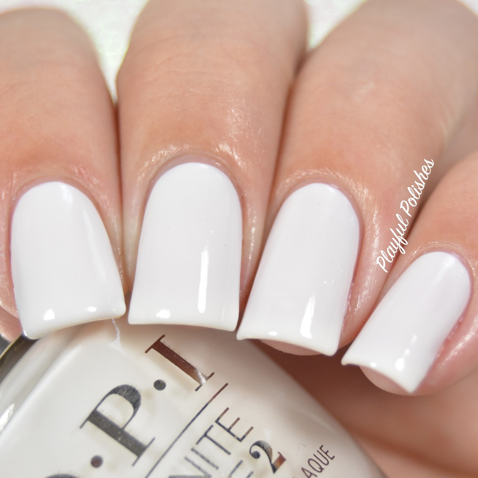 Playful Polishes: OPI INFINITE SHINE SWATCH & REVIEW  Opi Funny Bunny
