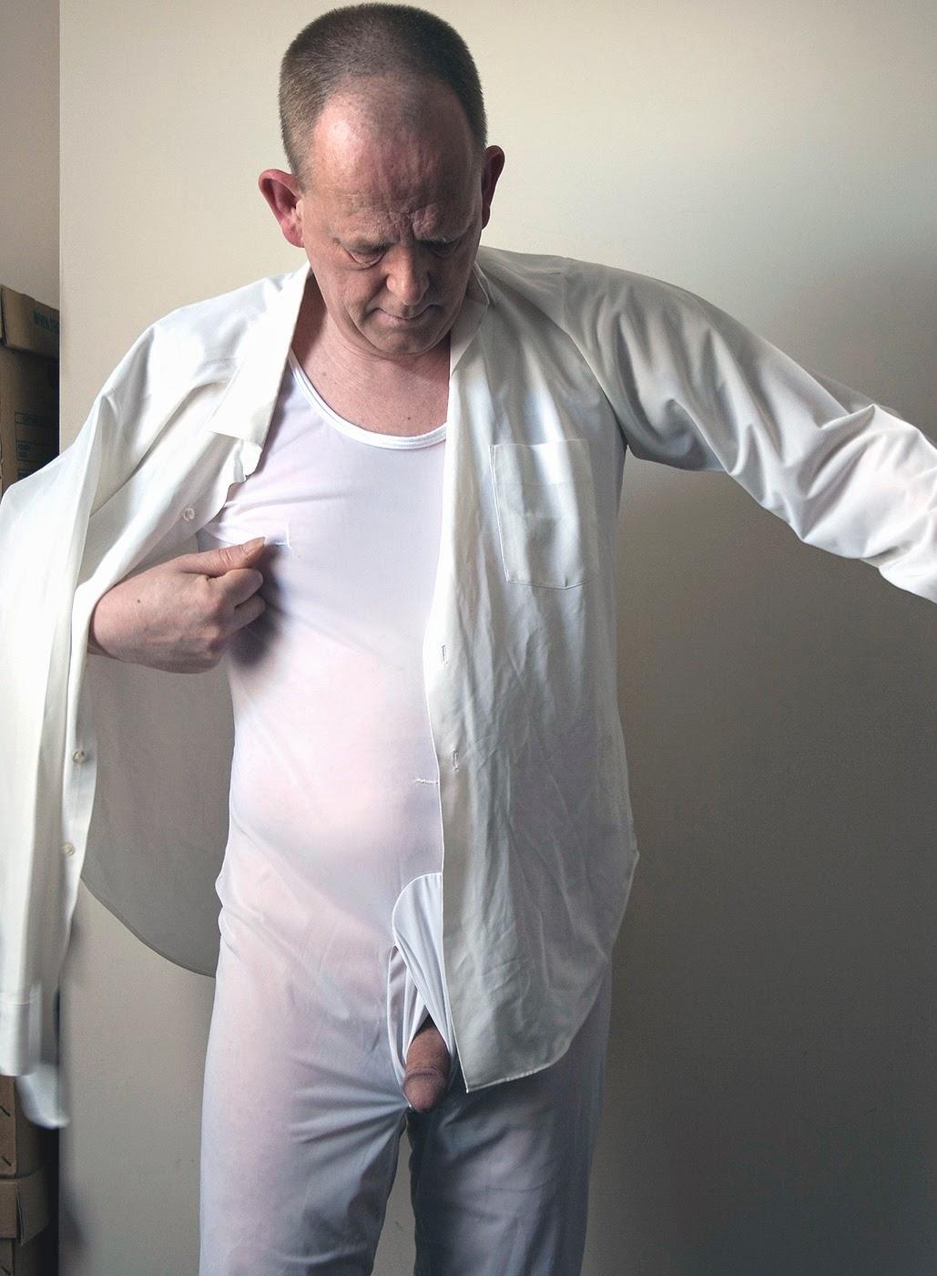 Pee in silky underwear 8