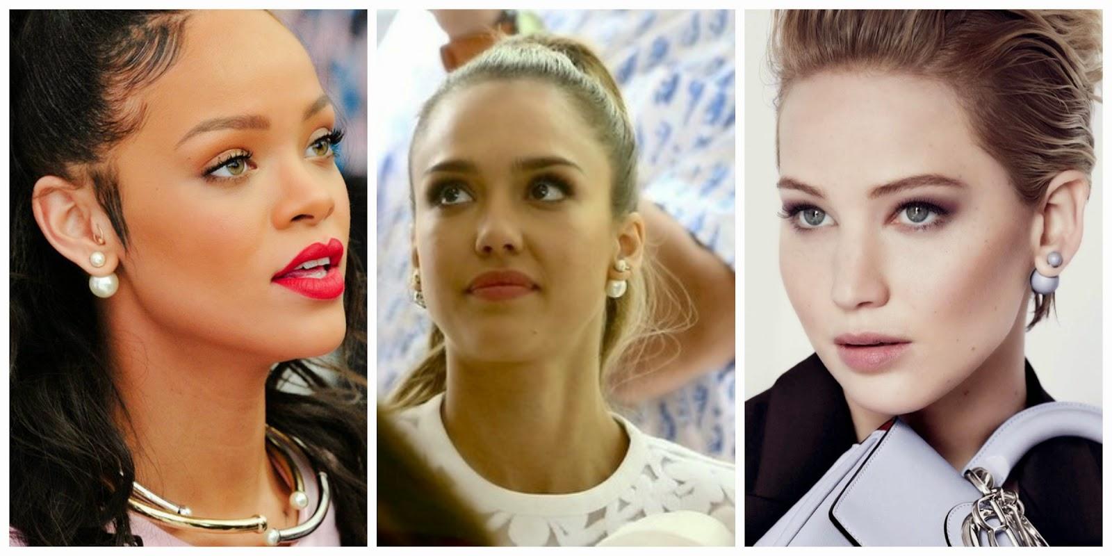 Double Pearl Earrings Dior The Best Double Pearl Earrings ...