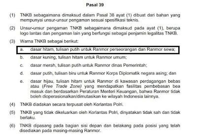 Pasal 39 Peraturan Kapolri Nomor 5 Tahun 2012