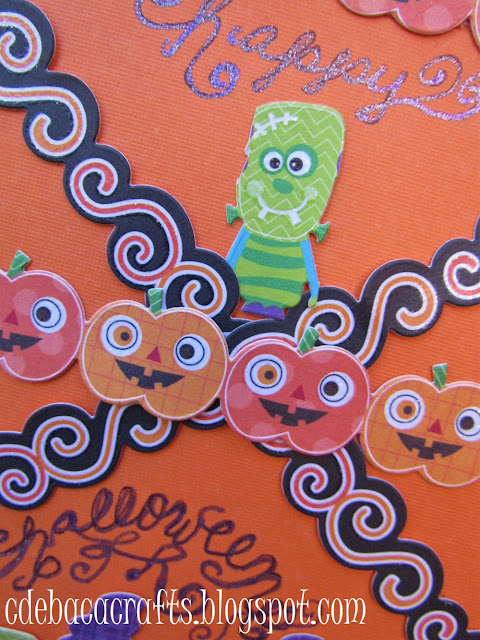 Happy halloween card by CdeBaca Crafts.