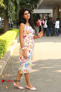 Actress Shamili Stills in Floral Short Dress at Sree Ramaraksha Song Launch 0192