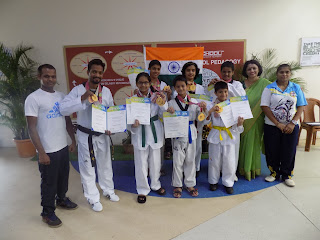 EuroSchool Airoli students shine at International Taekwondo Championship in South Korea