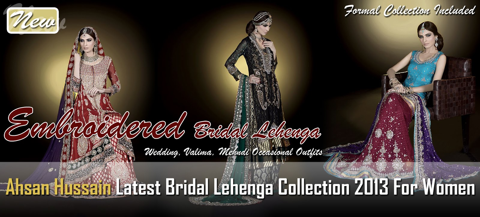 Wear Bridal frocks lehenga by ahsan hussain fotos