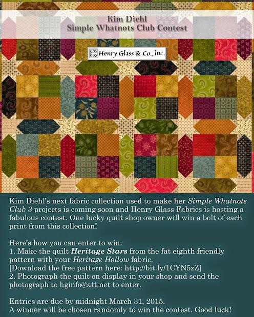 Henry Glass Fabrics Kim Diehl' Simple Whatnots Club