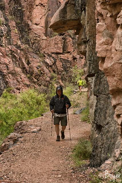 Hiking to Ribbon Falls, Grand Canyon National Park