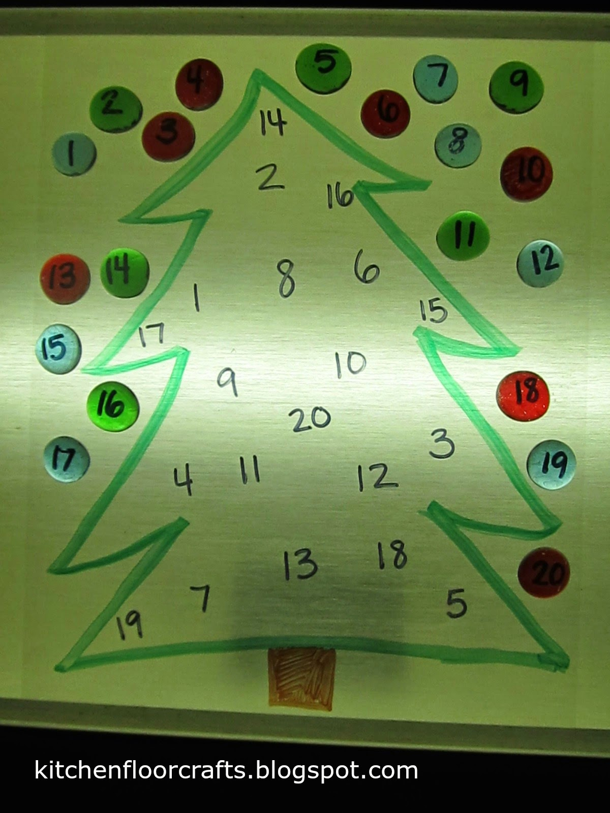 Kitchen Floor Crafts Christmas Tree Numbers For The