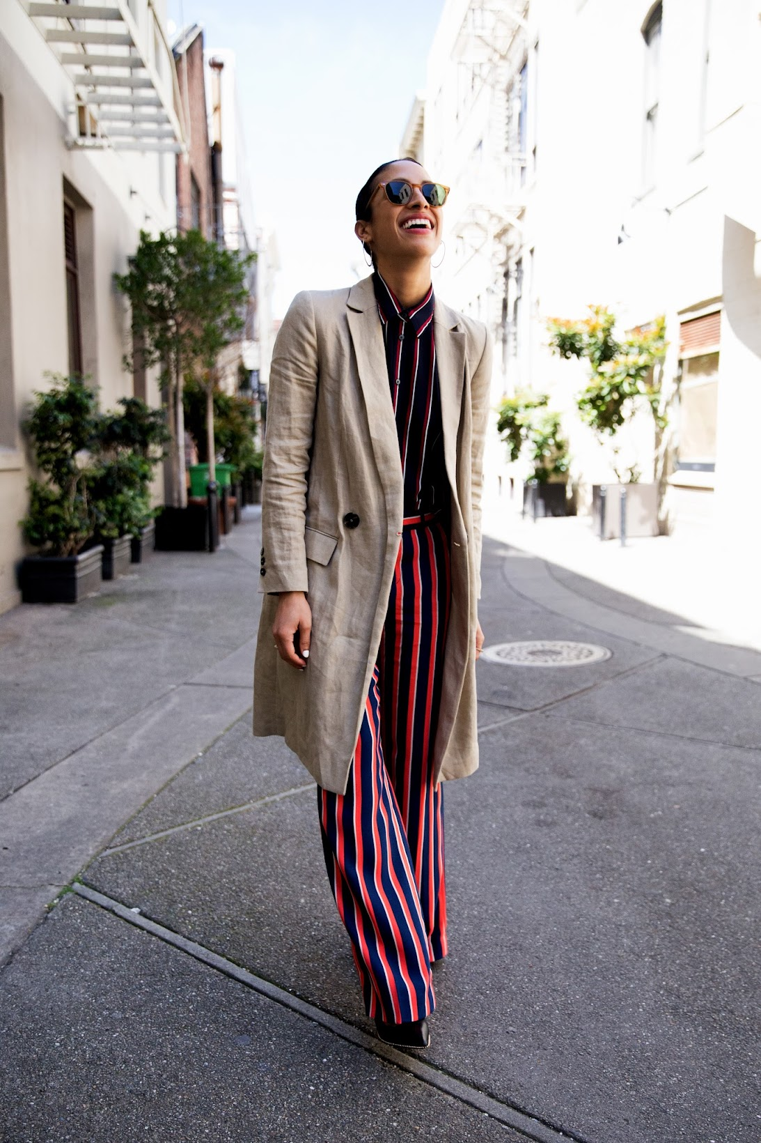 Banana Republic, stripes on stripes, what moves me, sponsored post,