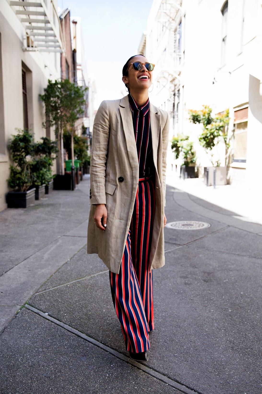 Banana Republic, stripes on stripes, what moves me, sponsored post,