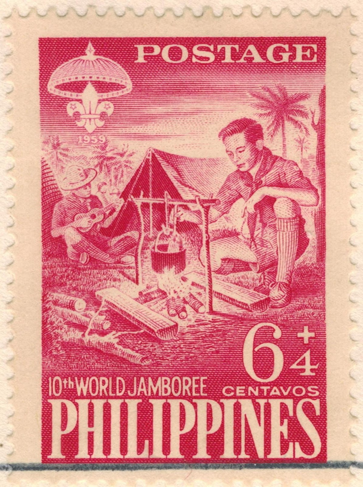 Philippine Republic Stamps 1961 2nd National Boy Scout