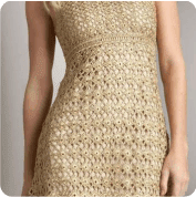 Vestido Dorado a Crochet