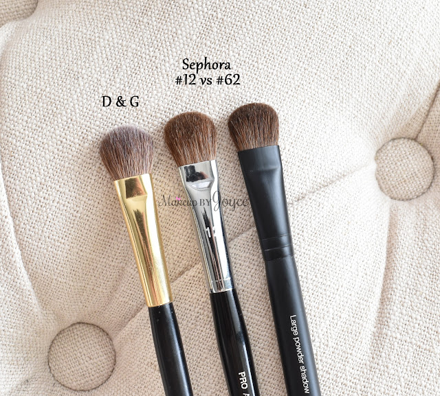 Sephora #12 vs #62 Dolce & Gabbana Big Blending Brush Review