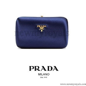 Crown princess Mary style Prada Small Satin Box Clutch