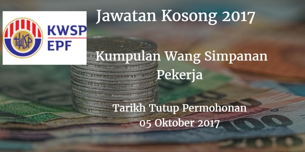 Jawatan Kosong KWSP 05 Oktober 2017