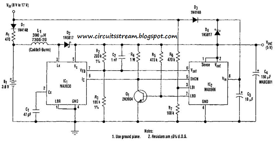 build a ups 5 volt circuit diagram electronic circuit diagrams rh circuitsstream blogspot com