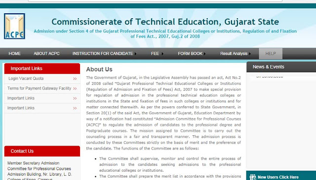 Gujarat D2D Admission 2018-19, Online Registration Process @gujacpcadm.nic.in