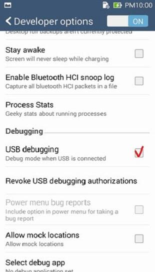 Enable Usb Debugging Asus Zenfone 2 Laser