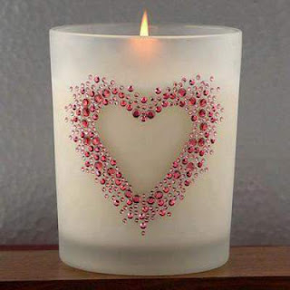beautiful heart design on candle