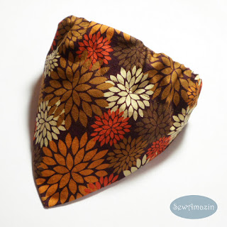 Autumn Mums Dog Bandana