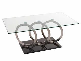 mesa actual de acero y cristal