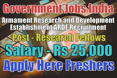 ARDE Recruitment 2018
