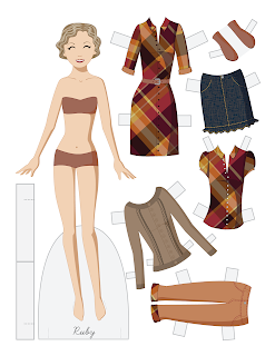 Ruby - Fashion Friday Paper Doll