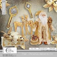 lit realista de navidad con santa y dorado gratis