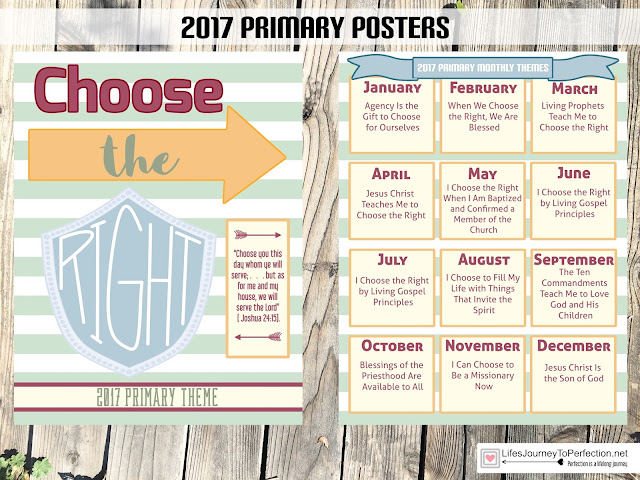 All you need for 2017 s lds primary theme choose the right