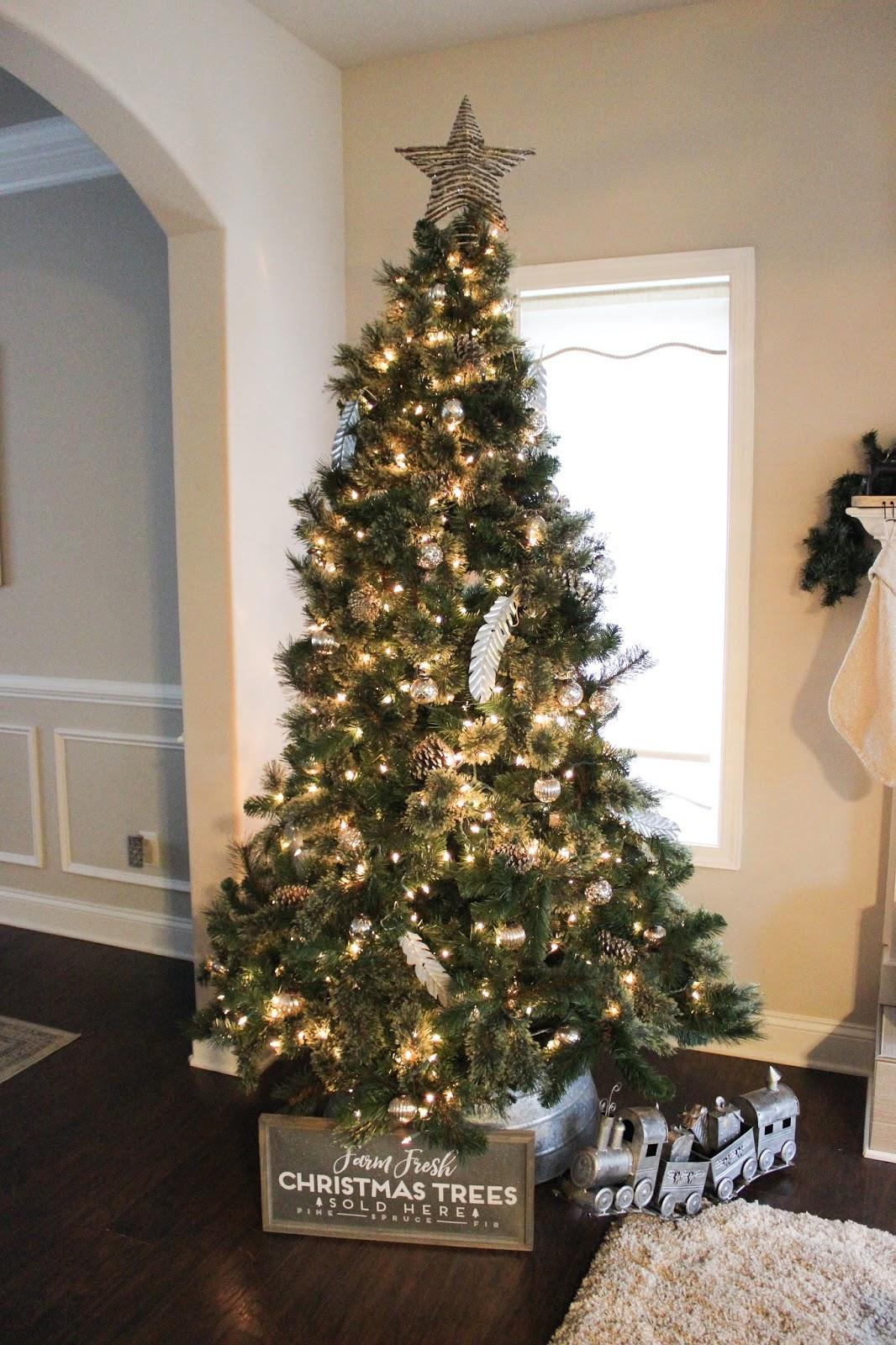 Tree Details Christmas Faux Virginia Pine Target Tin Skirt Crate Barrel Star Train Similar To Hayneedle
