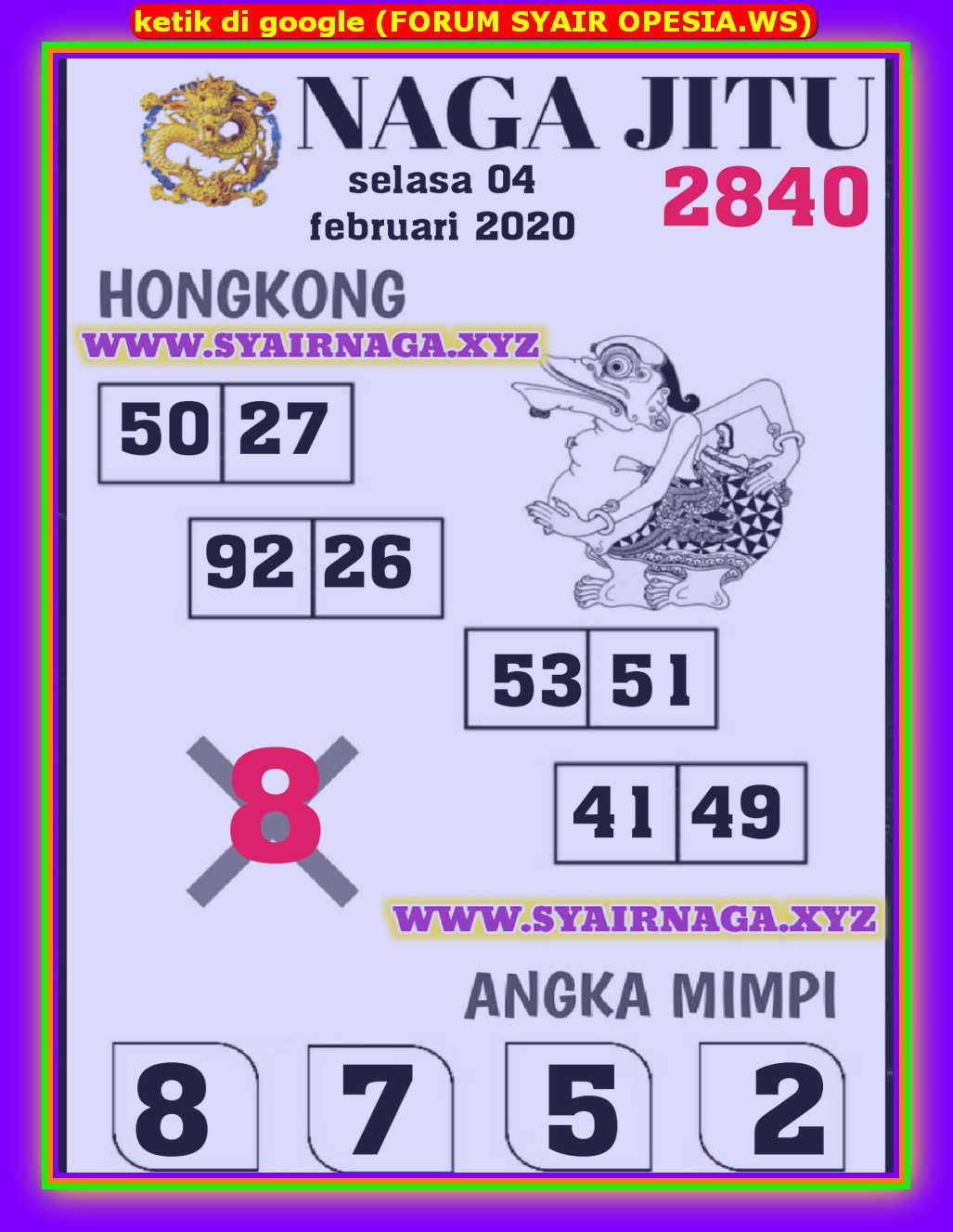 Kode syair Hongkong Selasa 4 Februari 2020 113