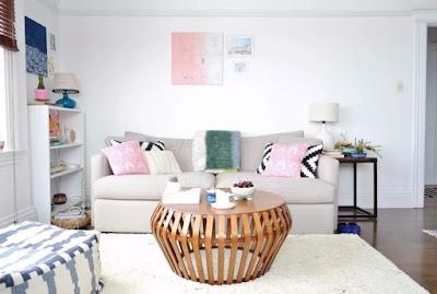 gambar dekorasi ruang tamu kecil sempit terbaru