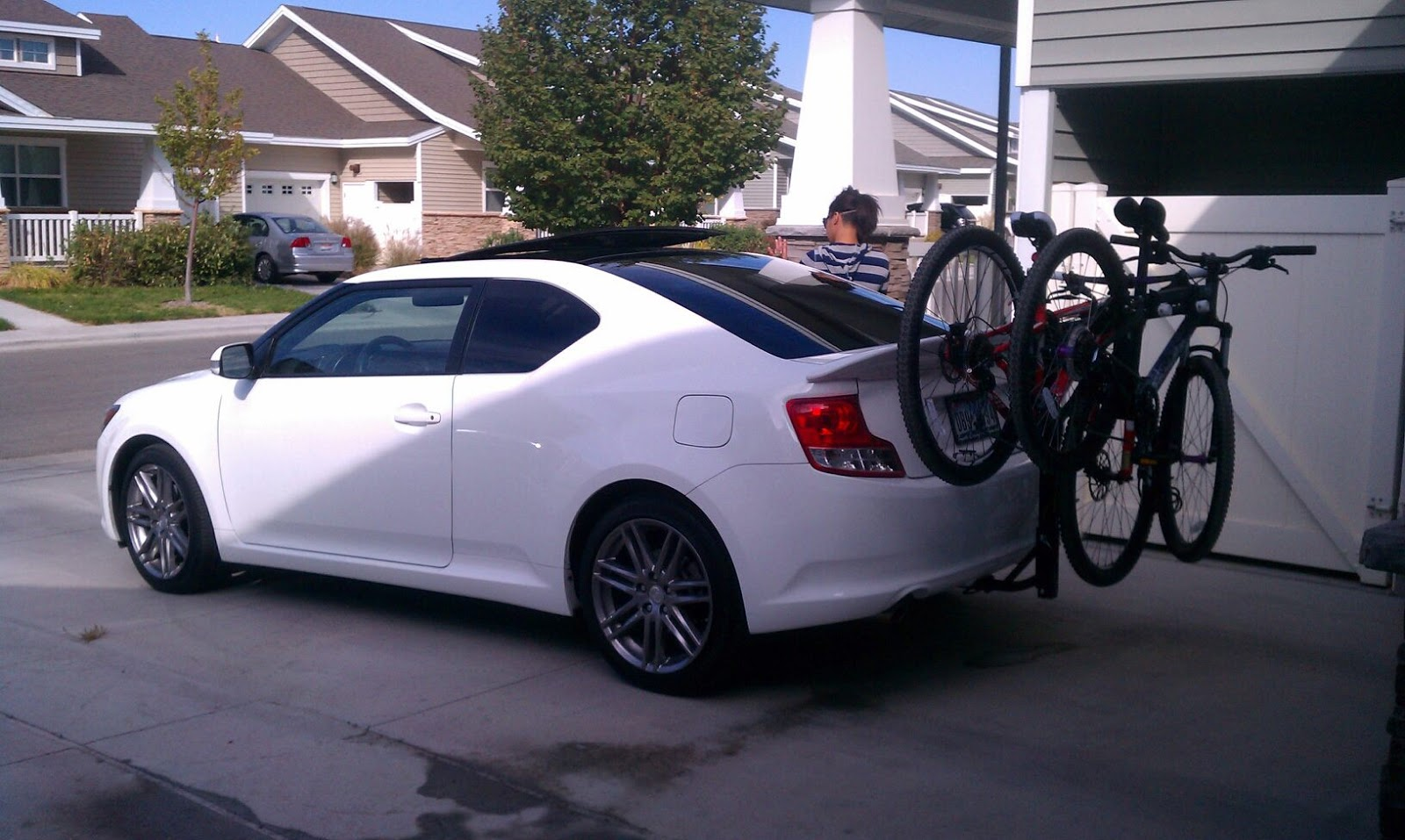 Bike Rack Scion TC 2012   GET UP IN THE MORNING