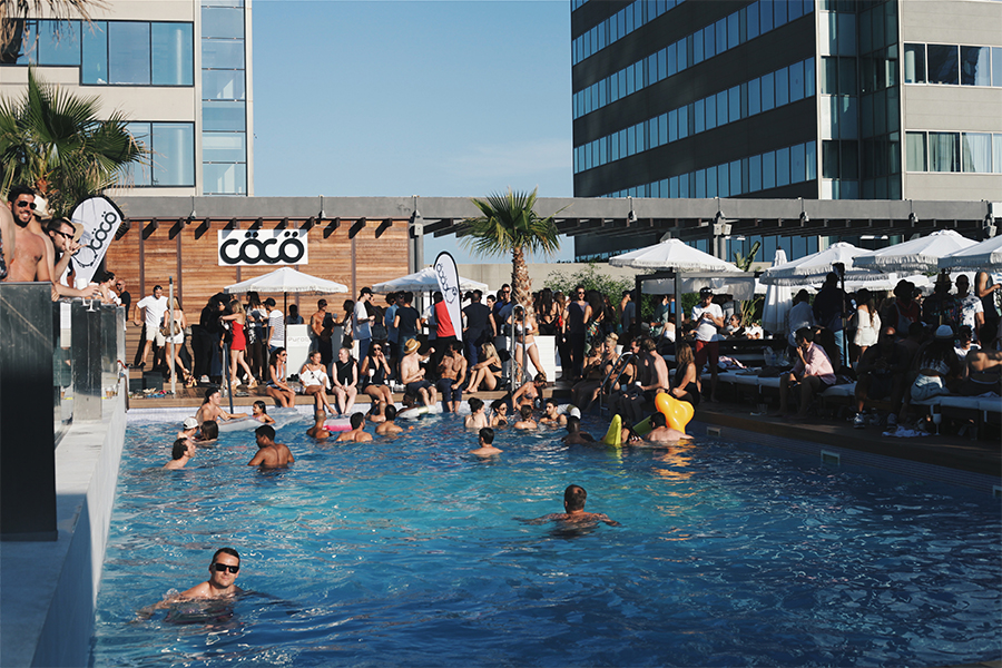 Pool party at Hilton Diagonal Barcelona