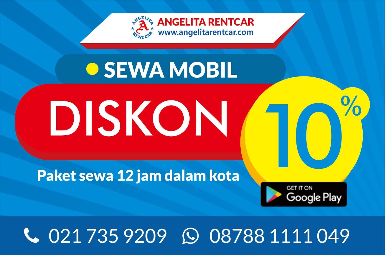 Rental mobil Jakarta diskon 10% untuk paket 12 jam dalam kota