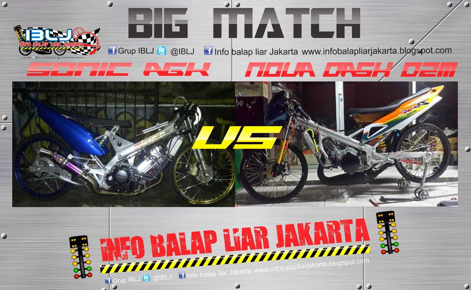 Motor Drag Ninja Video Hasil Race Sonic AGK VS Nova Dash D2M