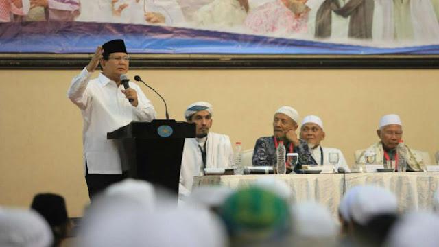 Prabowo Ungkap Alasan Tak Pilih Cawapres dari Ulama