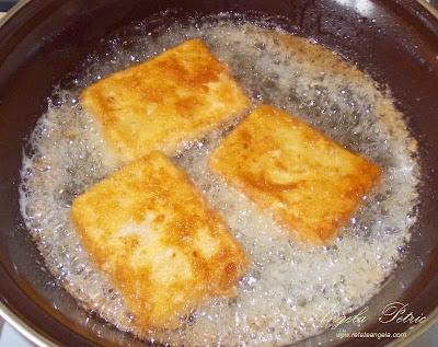 Preparare cascaval pane- etapa 4