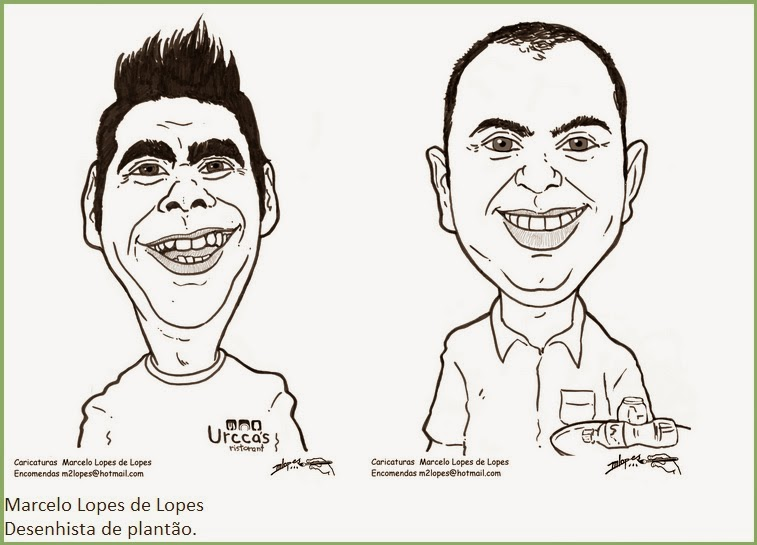 Caricaturas de evento M2LOPES