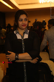 Tamil Actress Meena Latest Stills in Black Dress at TSR TV9 Awards Press Meet  0057.JPG