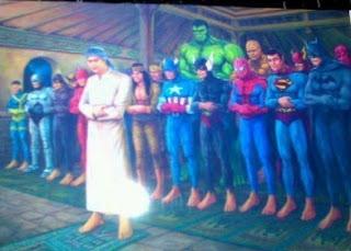 gambar dp bbm super hero sholat