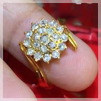Jual Cincin Emas Berlian Bentuk Bunga